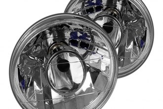 "Spyder® - 7"" Round Chrome Projector Headlights"