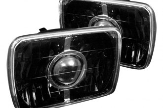 "Spyder® - 7x6"" Rectangular Black Projector Headlights Off-Road Use Only"