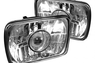 "Spyder® - 7x6"" Rectangular Chrome Projector Headlights Off-Road Use Only"