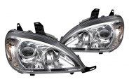 Spyder® - Chrome Projector Headlights with Amber Reflectors