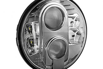"Spyder® - 7"" Round Smoke Projector Headlight with LEDs"