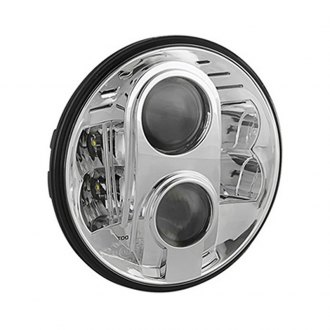 "Spyder® - 7"" Round Chrome Projector Headlight with LEDs Off-Road Use Only"