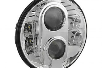 "Spyder® - 7"" Round Chrome Projector Headlight with LEDs"