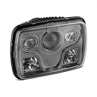 "Spyder® - 7x6"" Rectangular Smoke LED Projector Headlight Off-Road Use Only"