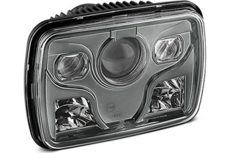 "Spyder® - 7x6"" Rectangular Smoke Projector Headlight with LEDs"
