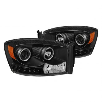 Spyder® - Black Halo Projector Headlights with LEDs