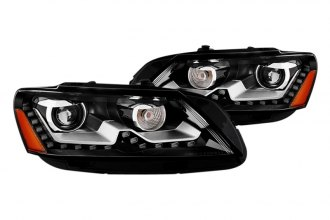 Spyder® - Black OE Style Projector Headlights with LEDs