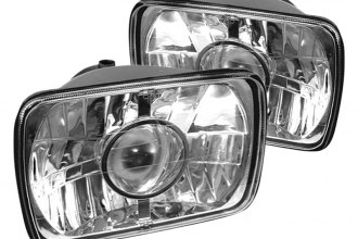 "Spyder® - 4x6"" Rectangular Chrome Projector Headlights"