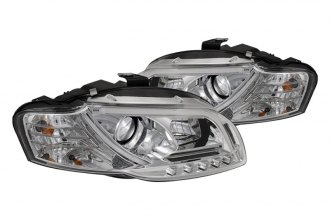 Spyder® - Chrome Projector Headlights with Light Tube DRL G2