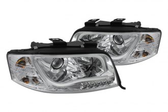 Spyder® - Chrome Projector Headlights with Light Tube DRL