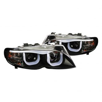 Spyder® - Black 3D Halo Projector Headlights with LED DRL