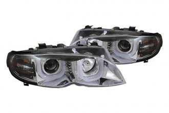 Spyder® - Chrome 3D Halo Projector Headlights with LED DRL