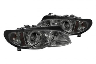 Spyder® - Smoke Halo Projector Headlights with Amber Reflectors