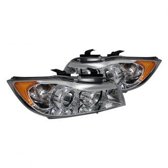 Spyder® - Chrome Halo Projector Headlights with Amber Reflectors