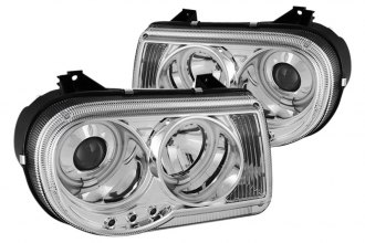 Spyder® PRO-YD-C300C-CCFL-C - Chrome CCFL Halo Projector Headlights with LEDs