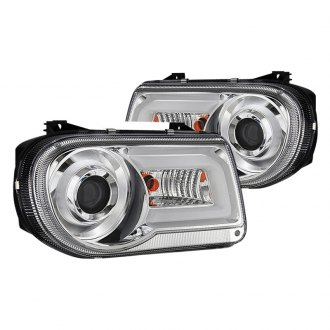 Spyder® - Chrome Projector Headlights with LED DRL