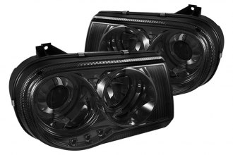 Spyder® PRO-YD-C300C-HL-SM - Smoke Halo Projector Headlights with LEDs