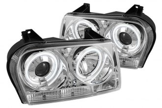 Spyder® PRO-YD-C305-CCFL-C - Chrome CCFL Halo Projector Headlights with LEDs