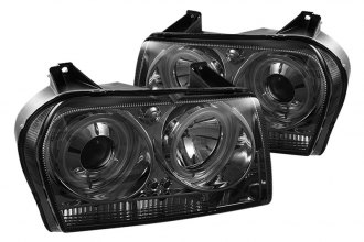 Spyder® PRO-YD-C305-CCFL-SM - Smoke CCFL Halo Projector Headlights with LEDs