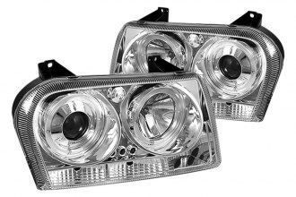 Spyder® PRO-YD-C305-HL-C - Chrome Halo Projector Headlights with LEDs