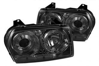 Spyder® PRO-YD-C305-HL-SM - Smoke Halo Projector Headlights with LEDs