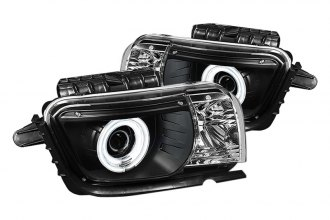 Spyder® PRO-YD-CCAM2010-CCFL-BK - Black CCFL Dual Halo Projector Headlights with LEDs