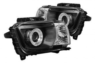 Spyder® PRO-YD-CCAM2010-HL-BK - Black Dual Halo Projector Headlights with LEDs