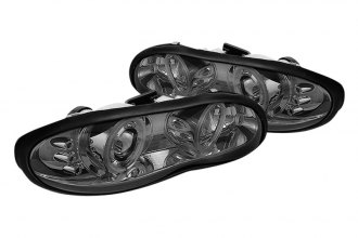 Spyder® PRO-YD-CCAM98-CCFL-SM - Smoke CCFL Halo Projector Headlights with LEDs