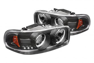Spyder® PRO-YD-CDE00-CCFL-BK - Black CCFL Halo Projector Headlights with LEDs