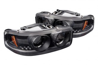 Spyder® PRO-YD-CDE00-HL-BK - Black Halo Projector Headlights with LEDs