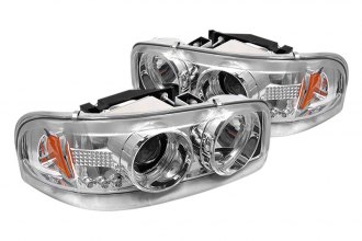 Spyder® PRO-YD-CDE00-HL-C - Chrome Halo Projector Headlights with LEDs