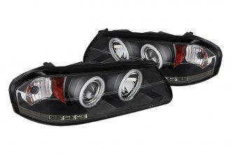 Spyder® PRO-YD-CHIP00-CCFL-BK - Black CCFL Halo Projector Headlights with LEDs