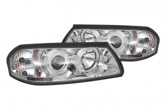 Spyder® PRO-YD-CHIP00-HL-C - Chrome Halo Projector Headlights with LEDs