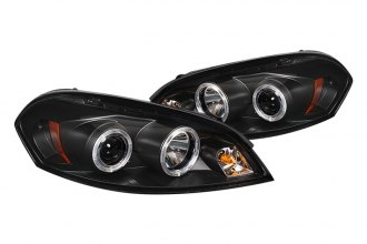 Spyder® PRO-YD-CHIP06-HL-BK - Black Halo Projector Headlights with LEDs