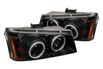 Spyder® PRO-YD-CS03-CCFL-BK - Black CCFL Halo Projector Headlights with LEDs
