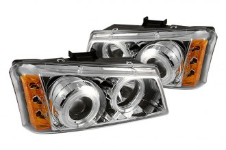 Spyder® PRO-YD-CS03-CCFL-C - Chrome CCFL Halo Projector Headlights with LEDs