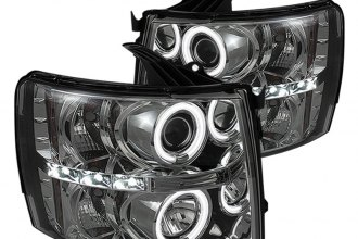 Spyder® PRO-YD-CS07-CCFL-SM - Smoke CCFL Halo Projector Headlights with LEDs