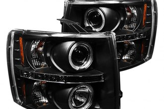 Spyder® PRO-YD-CS07-HL-BK - Black Halo Projector Headlights with LEDs