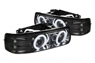 Spyder® PRO-YD-CS99-CCFL-SM - Smoke CCFL Halo Projector Headlights with LEDs
