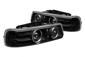 Spyder® PRO-YD-CS99-HL-BK - Black Halo Projector Headlights with LEDs