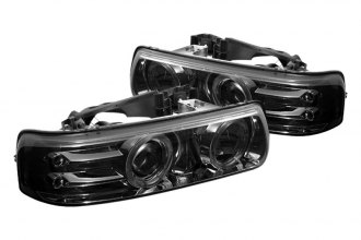 Spyder® PRO-YD-CS99-HL-SMC - Smoke Halo Projector Headlights with LEDs