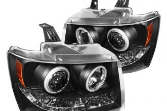 Spyder® PRO-YD-CSUB07-CCFL-BK - Black CCFL Halo Projector Headlights with LEDs