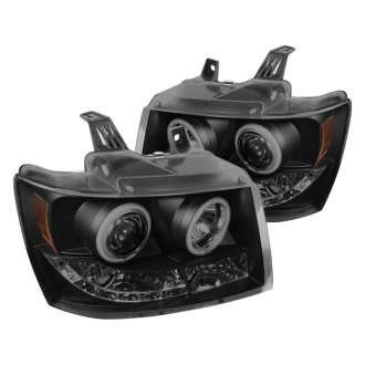 Spyder® - Black Smoke CCFL Halo Projector Headlights with LEDs