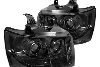 Spyder® PRO-YD-CSUB07-HL-SM - Smoke Halo Projector Headlights with LEDs