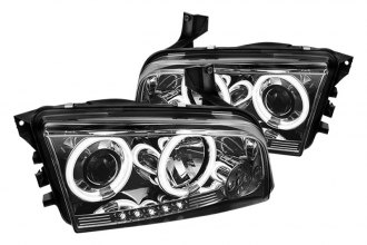 Spyder® PRO-YD-DCH05-CCFL-SM - Smoke CCFL Halo Projector Headlights with LEDs