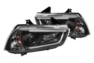 Spyder® PRO-YD-DCH11-LTDRL-BK - Black Projector Headlights with Light Tube DRL