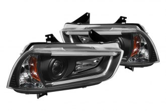 Spyder® PRO-YD-DCH11-LTDRL-HID-BK - Black Projector Headlights with Light Tube DRL