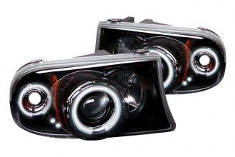 Spyder® PRO-YD-DDAK97-CCFL-BK - Black CCFL Halo Projector Headlights with LEDs