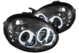 Spyder® PRO-YD-DN03-CCFL-SM - Smoke CCFL Halo Projector Headlights with LEDs