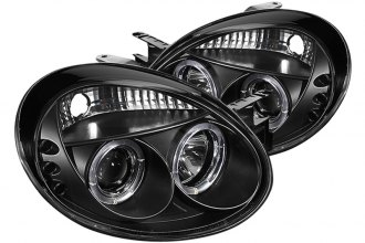 Spyder® PRO-YD-DN03-HL-BK - Black Halo Projector Headlights with LEDs